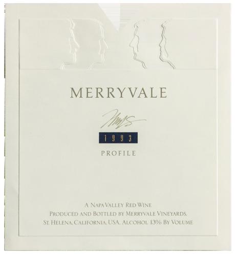 1993 Profile Wine Bottle