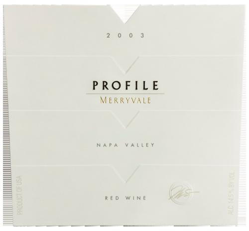 2003 Profile Wine Bottle